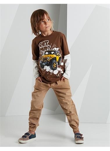 Mushi Jeep Mood Erkek Çocuk Pantolon Takım Kahve